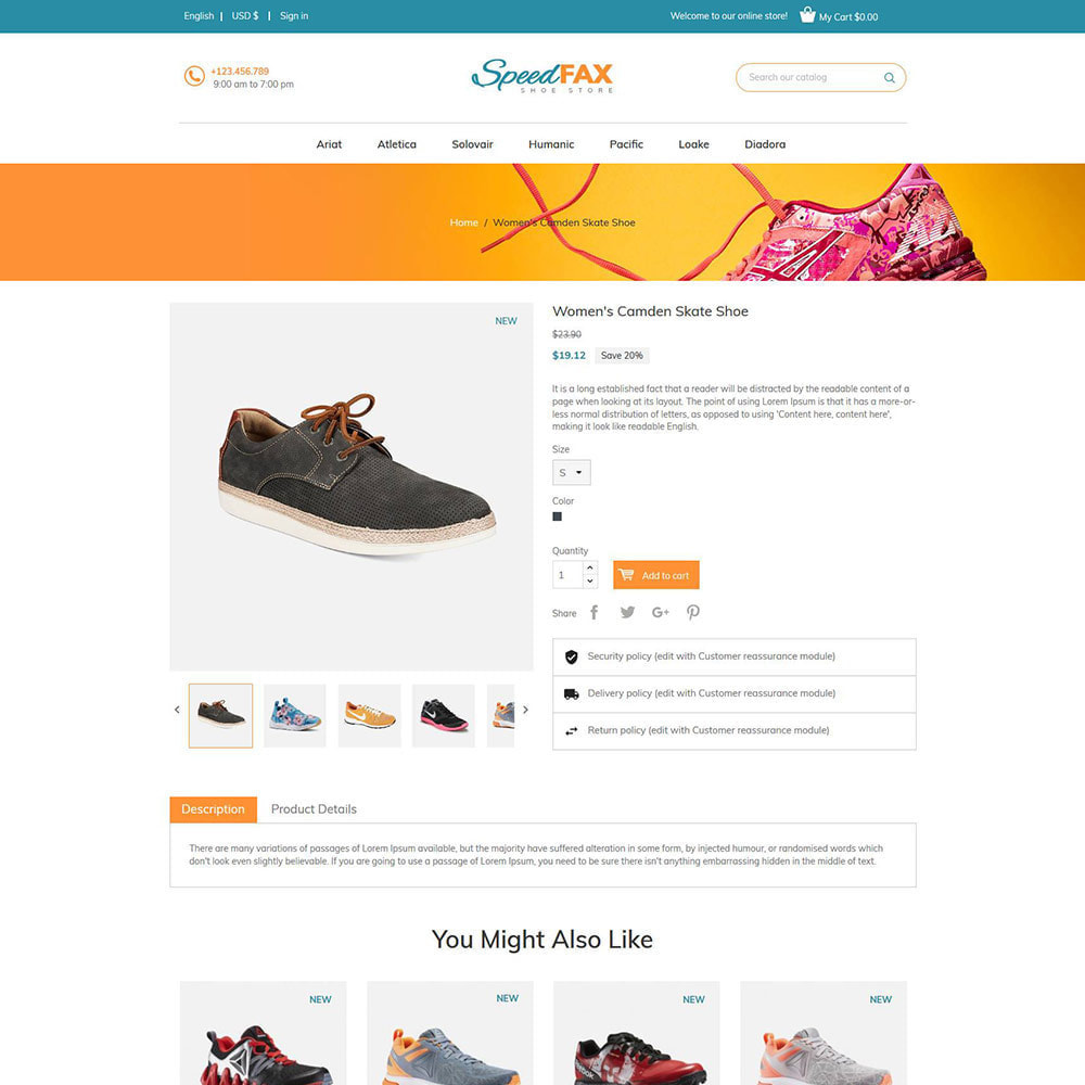 theme - Fashion & Shoes - Speed Fax  Shoes - Boot Store - 5