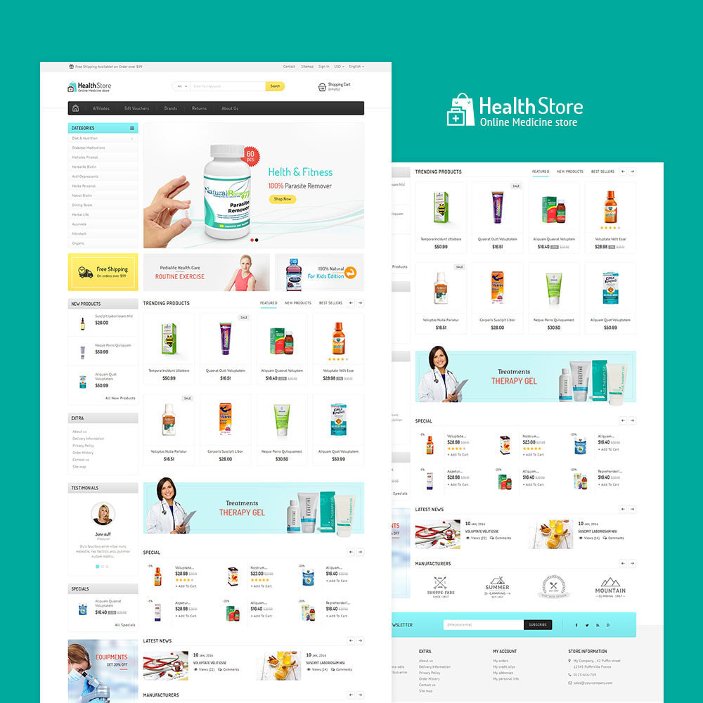 theme - Health & Beauty - Medicine Store - 2