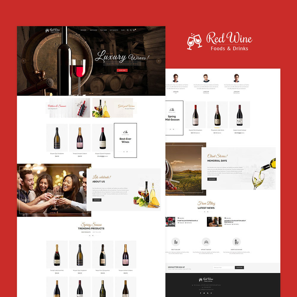 theme - Bebidas & Tabaco - Red Wine Store - 2