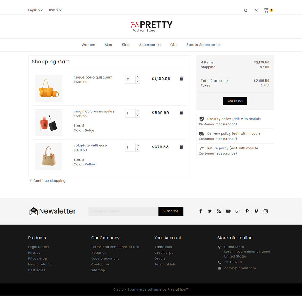 theme - Fashion & Shoes - BePretty Fashion Store - 6