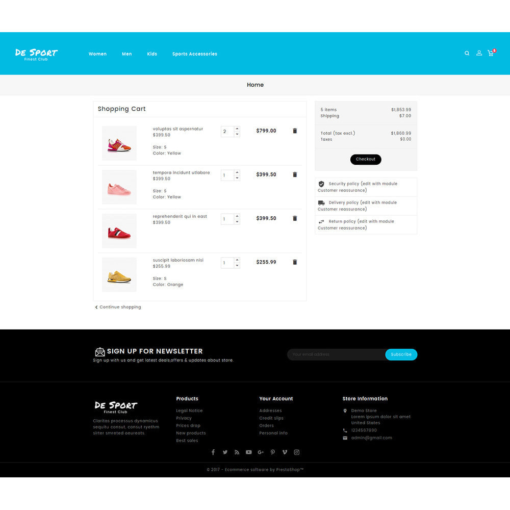theme - Sports, Activities & Travel - De Sport - Shoes Store - 6