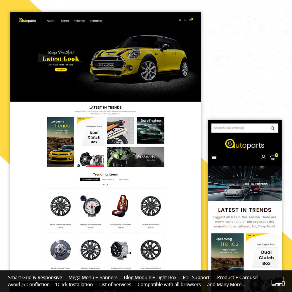 theme - Auto & Moto - Auto Parts Store - 1
