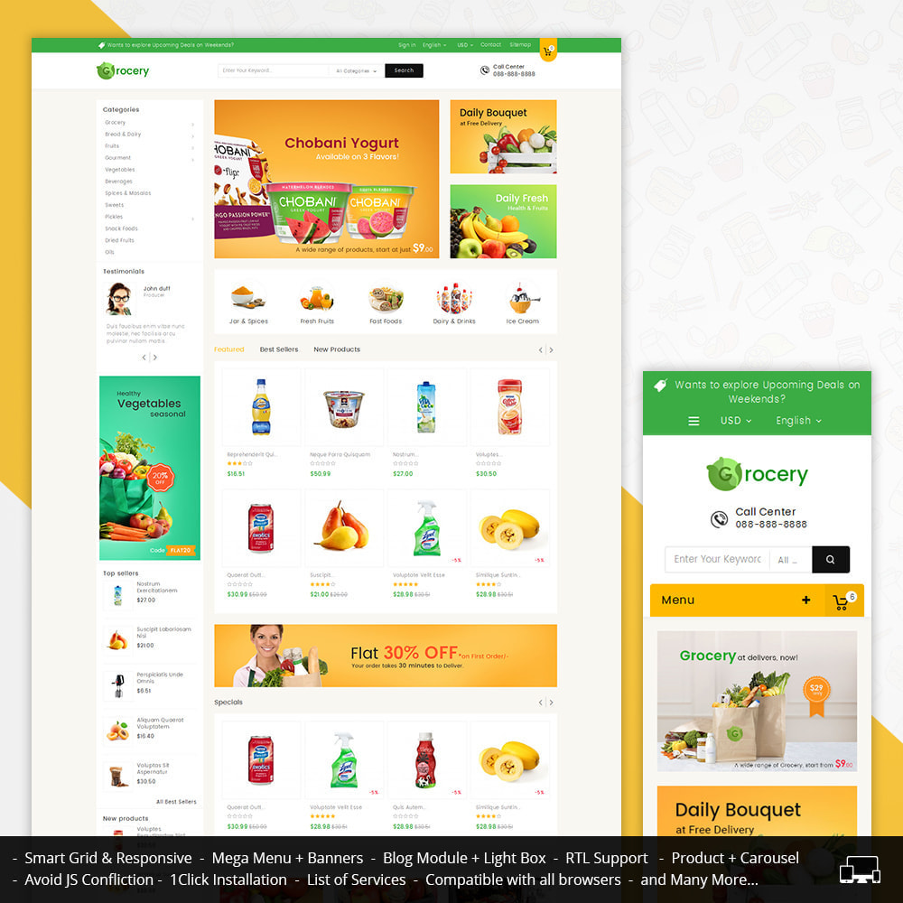 theme - Lebensmittel & Restaurants - Mega Grocery Store - 1