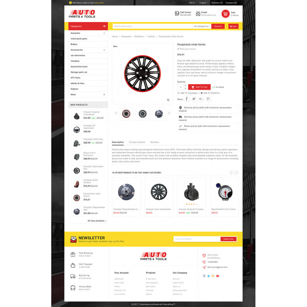 theme - Coches y Motos - Auto Parts Mega Store - 5
