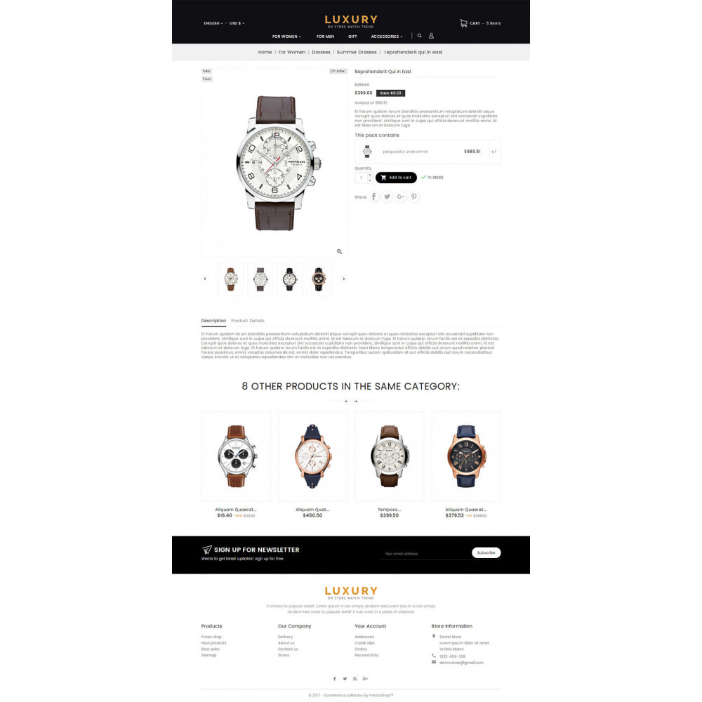 theme - Jewelry & Accessories - Luxury Watch Store - 5