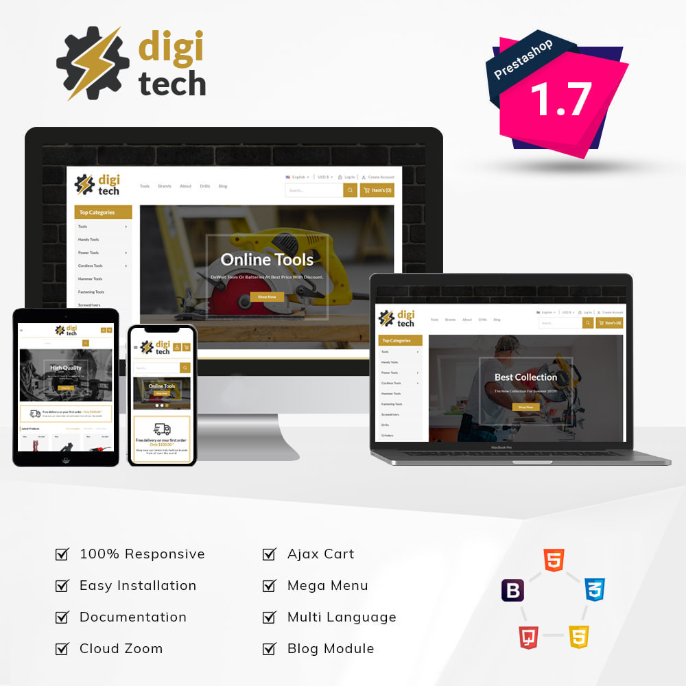 theme - Elektronik & High Tech - DIgitech - Tool's Store - 1