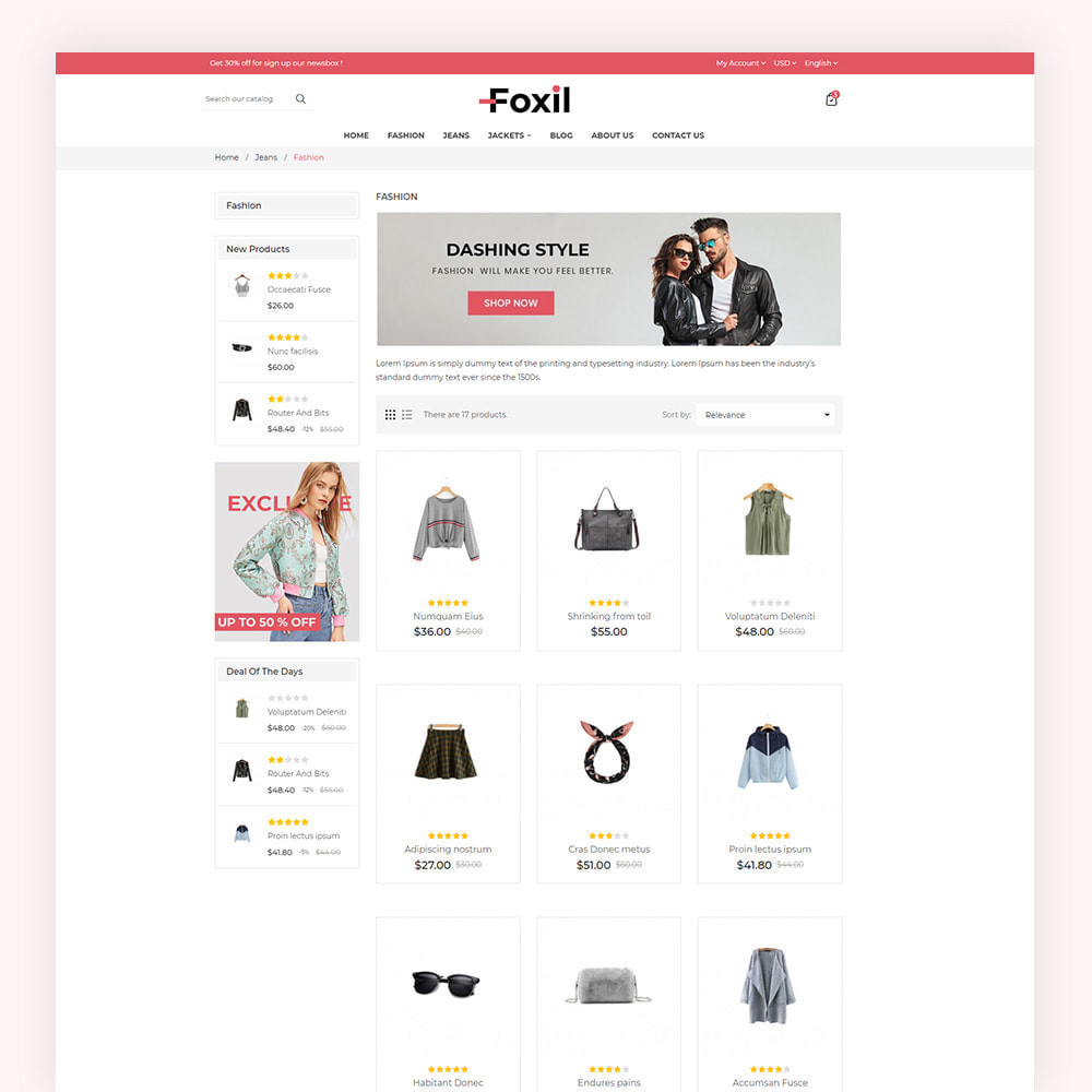 theme - Fashion & Shoes - Foxil Fashion Store - 5