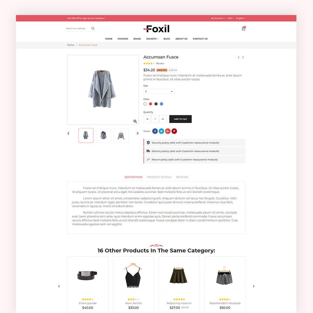 theme - Fashion & Shoes - Foxil Fashion Store - 7