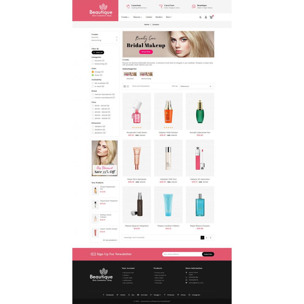 theme - Saúde & Beleza - Beautique Skin Cosmetics - 3