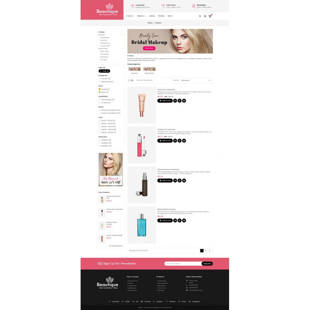 theme - Health & Beauty - Beautique Skin Cosmetics - 4