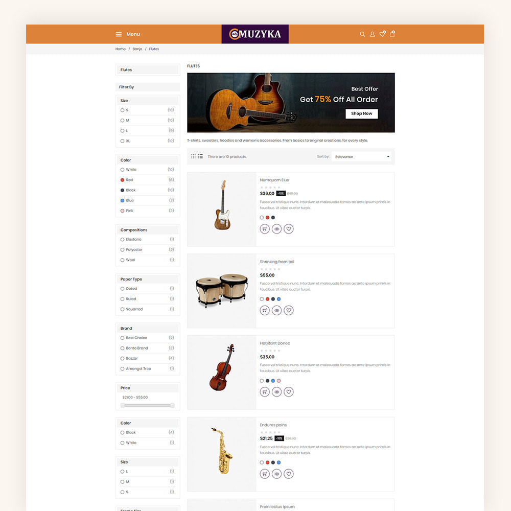 theme - Art & Culture - Muzyka Mugic Instruments Store - 6