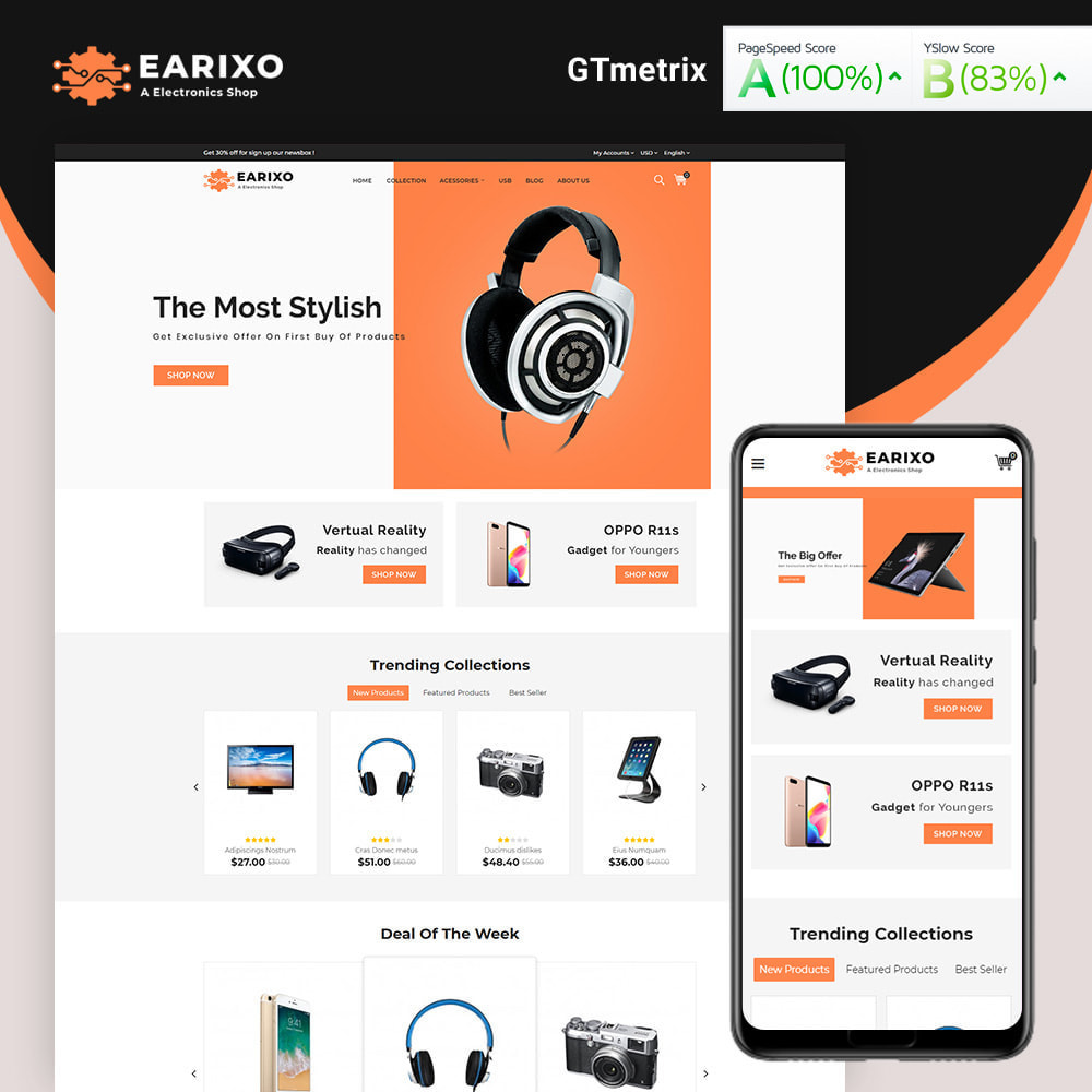 theme - Electronics & Computers - Earixo Electronics Shop - 1