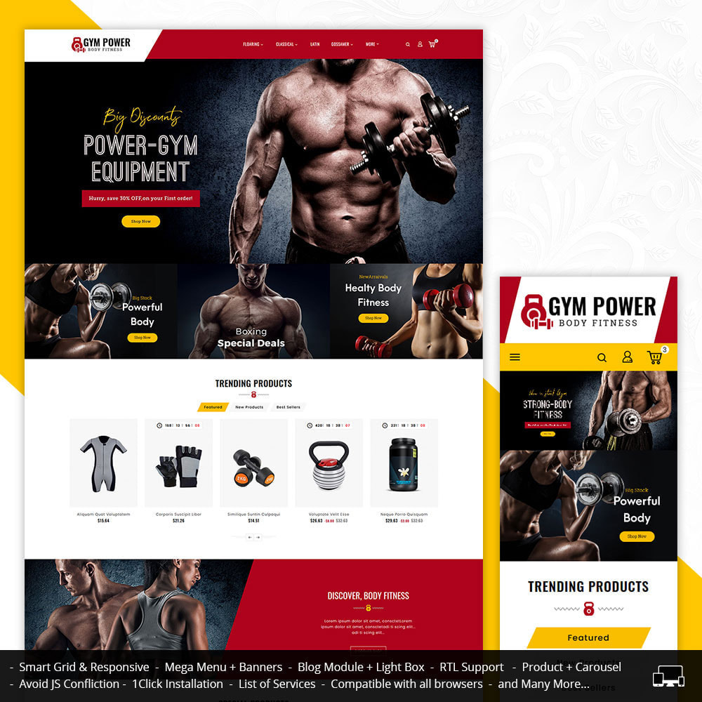 theme - Sport, Aktivitäten & Reise - Gym Power - Body Fitness - 1