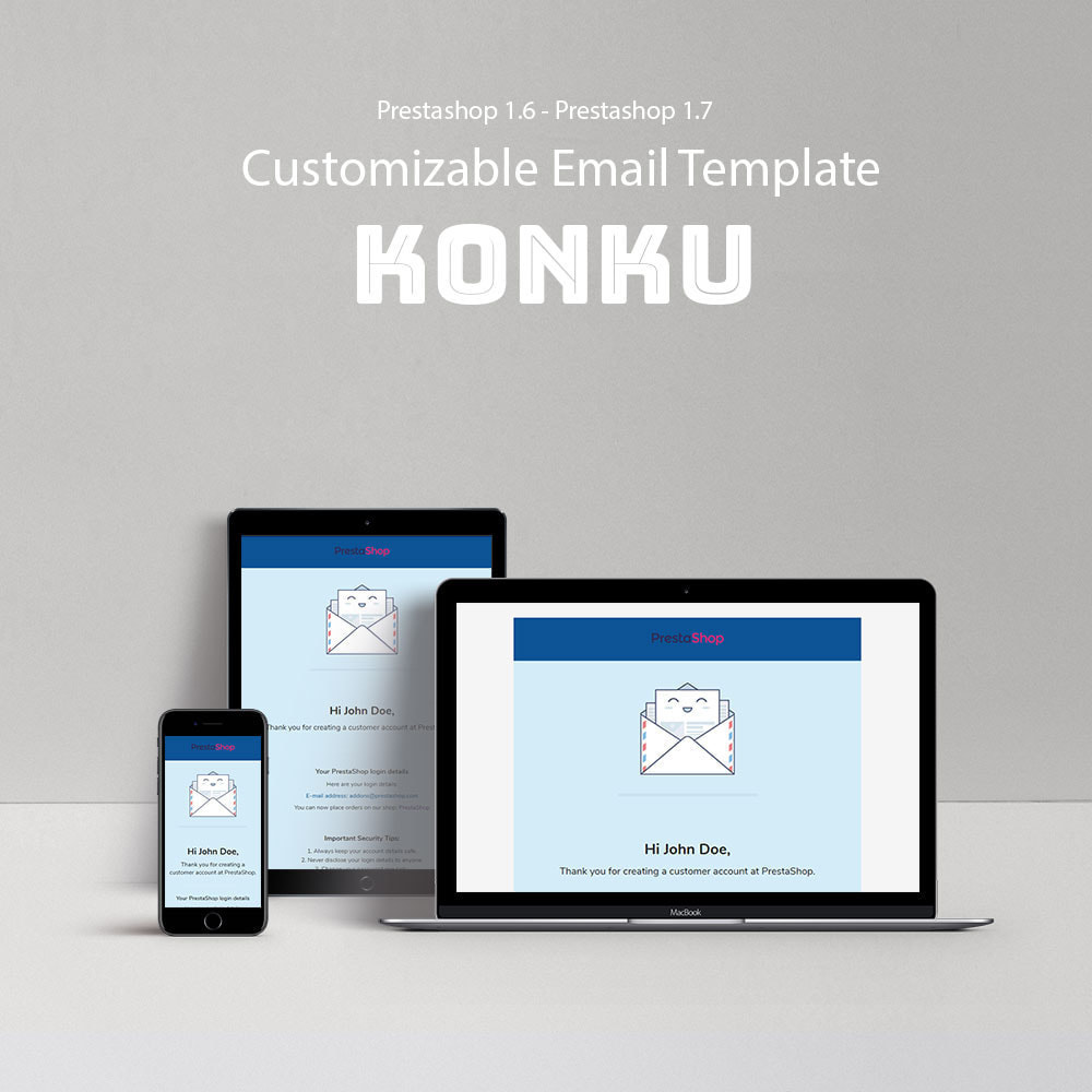email - Templates d'e-mails PrestaShop - Konku - Email templates Customize - 1