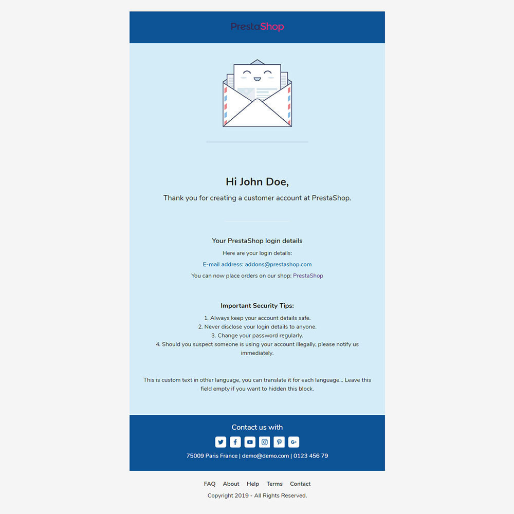 email - Templates d'e-mails PrestaShop - Konku - Template emails and for emails of module - 3