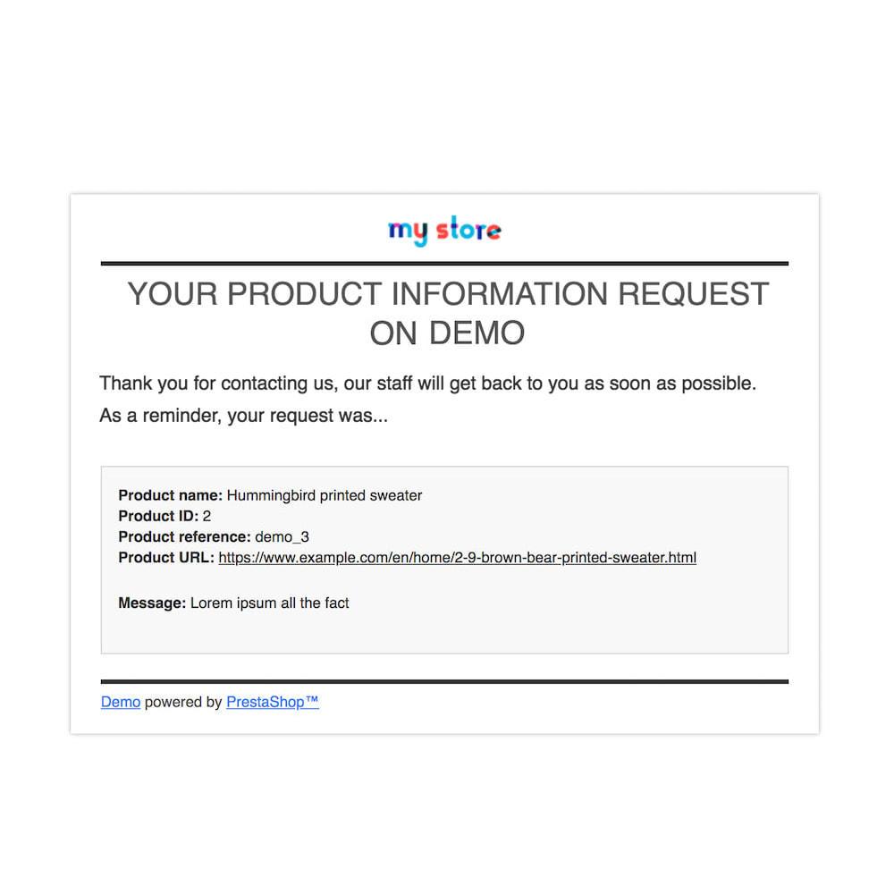 module - Altre informazioni & Product Tab - Richiedi informazioni prodotto - 6