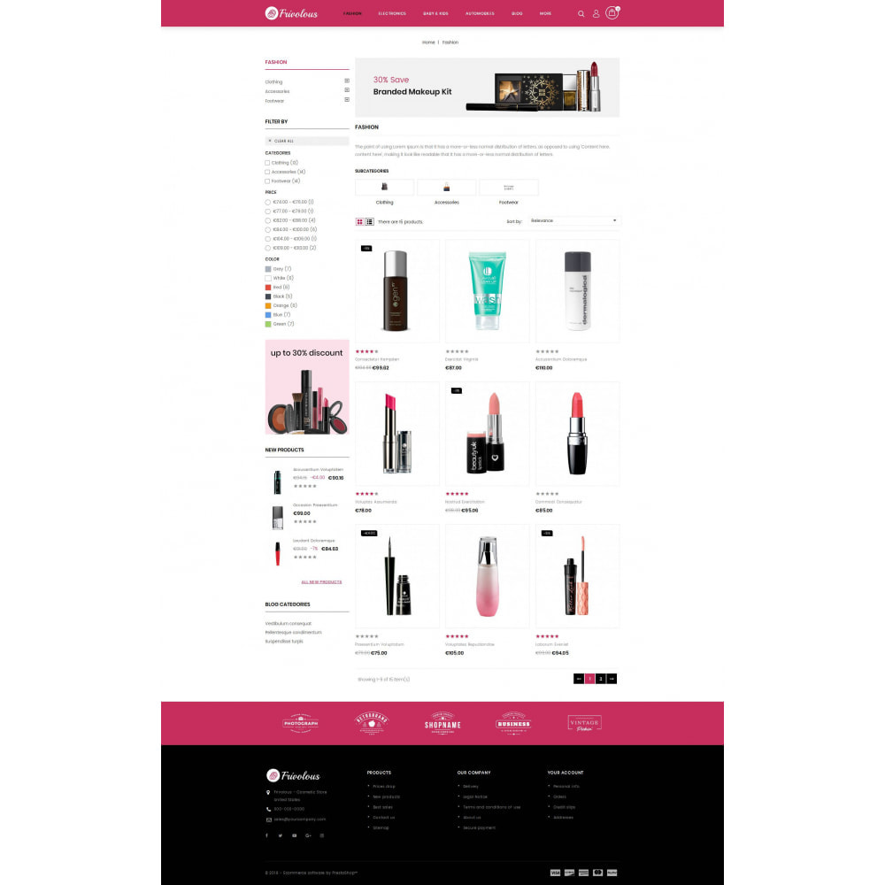 theme - Health & Beauty - Frivolous - Cosmetic Store - 3