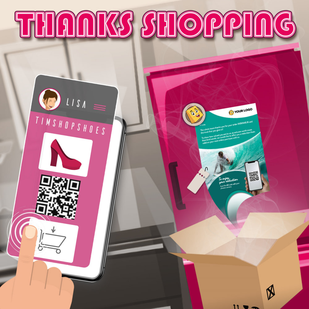 module - Referral & Loyalty Programs - Thanks Shopping : A THANKS that prints the difference $ - 1