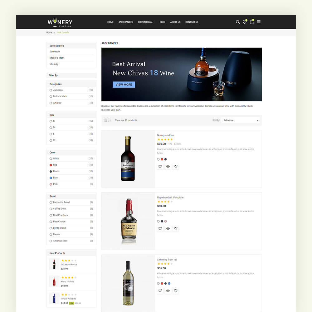 theme - Boissons & Tabac - Winery Wine Store - 7