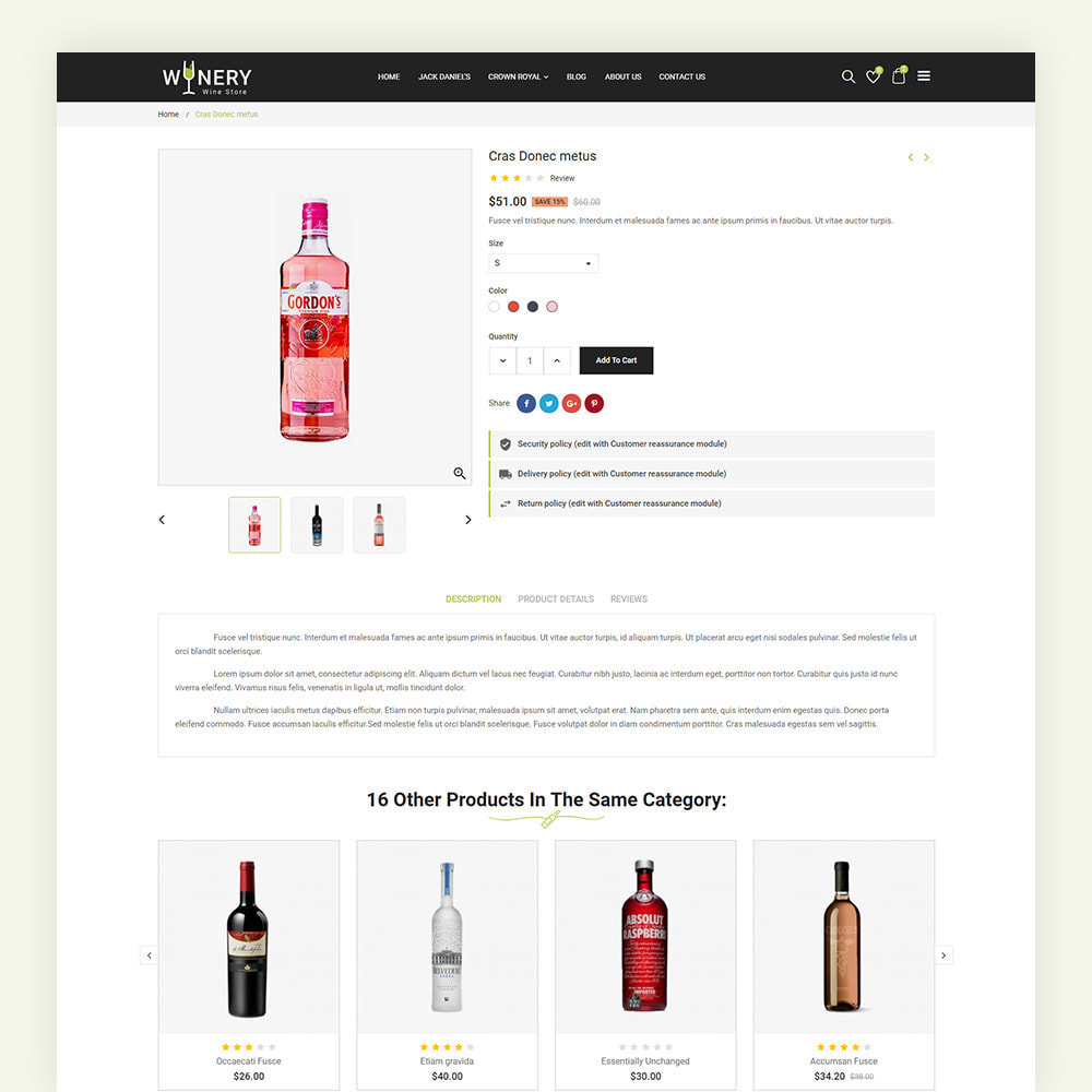 theme - Boissons & Tabac - Winery Wine Store - 8