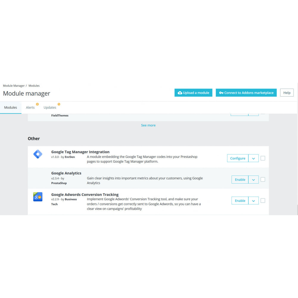 module - Analytics & Statistiche - Integrazione di Google Tag Manager - 3