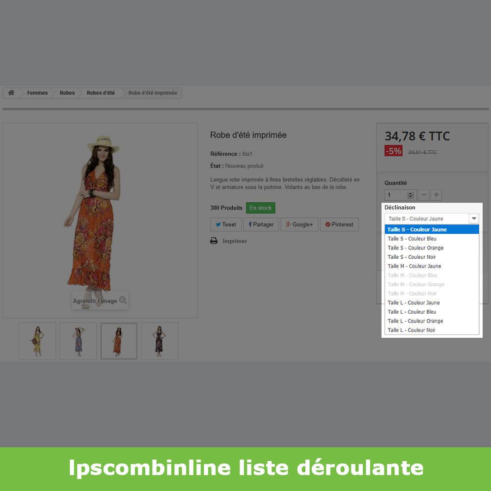 module - Déclinaisons & Personnalisation de produits - Groupes attributs déclinaisons produits (like Amazon) - 5