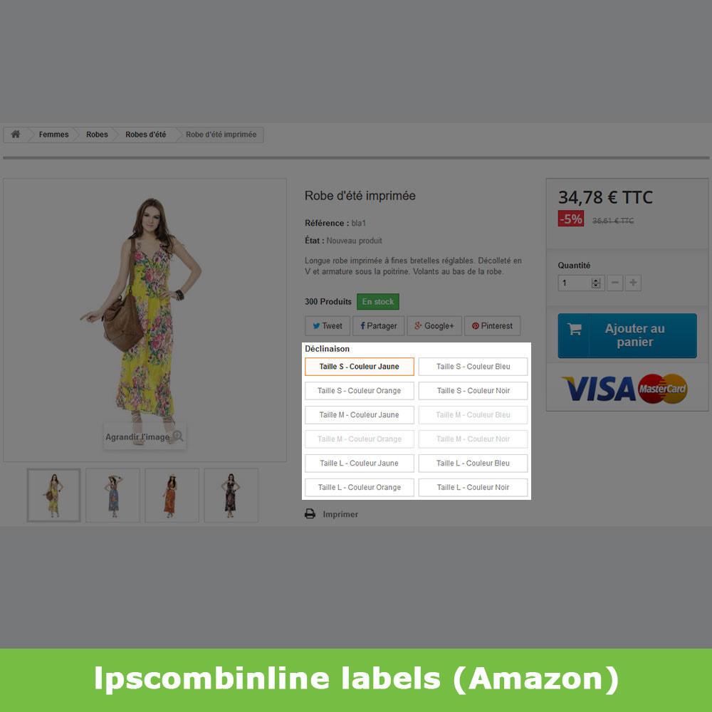 module - Déclinaisons & Personnalisation de produits - Groupes attributs déclinaisons produits (like Amazon) - 9