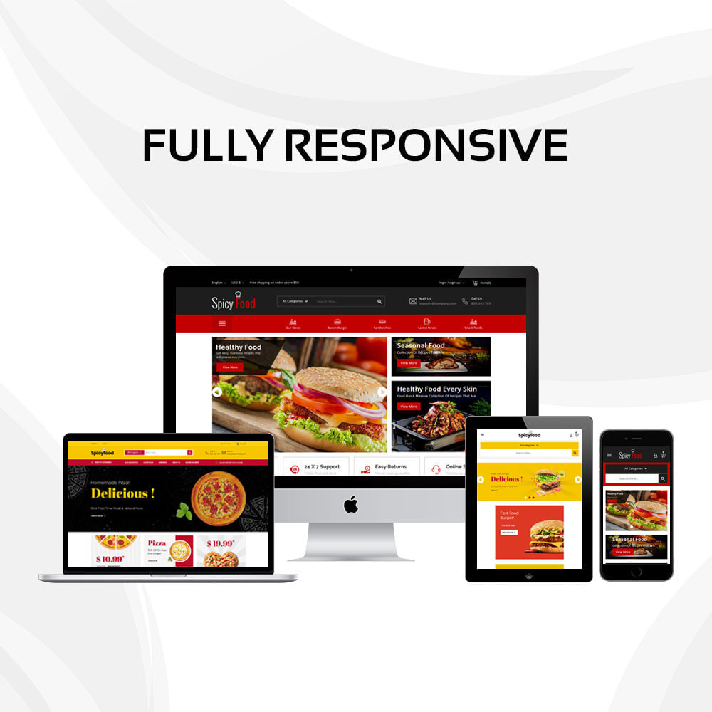 theme - Lebensmittel & Restaurants - Spicy Food - The Mega Food Shop - 2