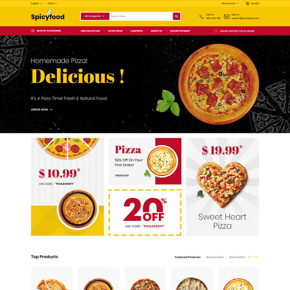 theme - Alimentation & Restauration - Spicy Food - Le magasin d'alimentation Mega - 5