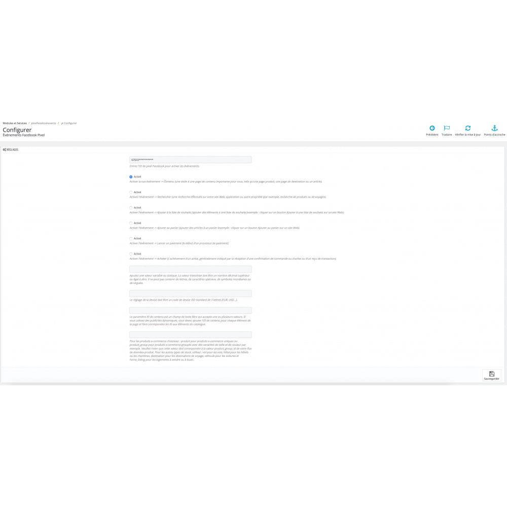 module - Analyses & Statistiques - Événements FB Pixel - 2