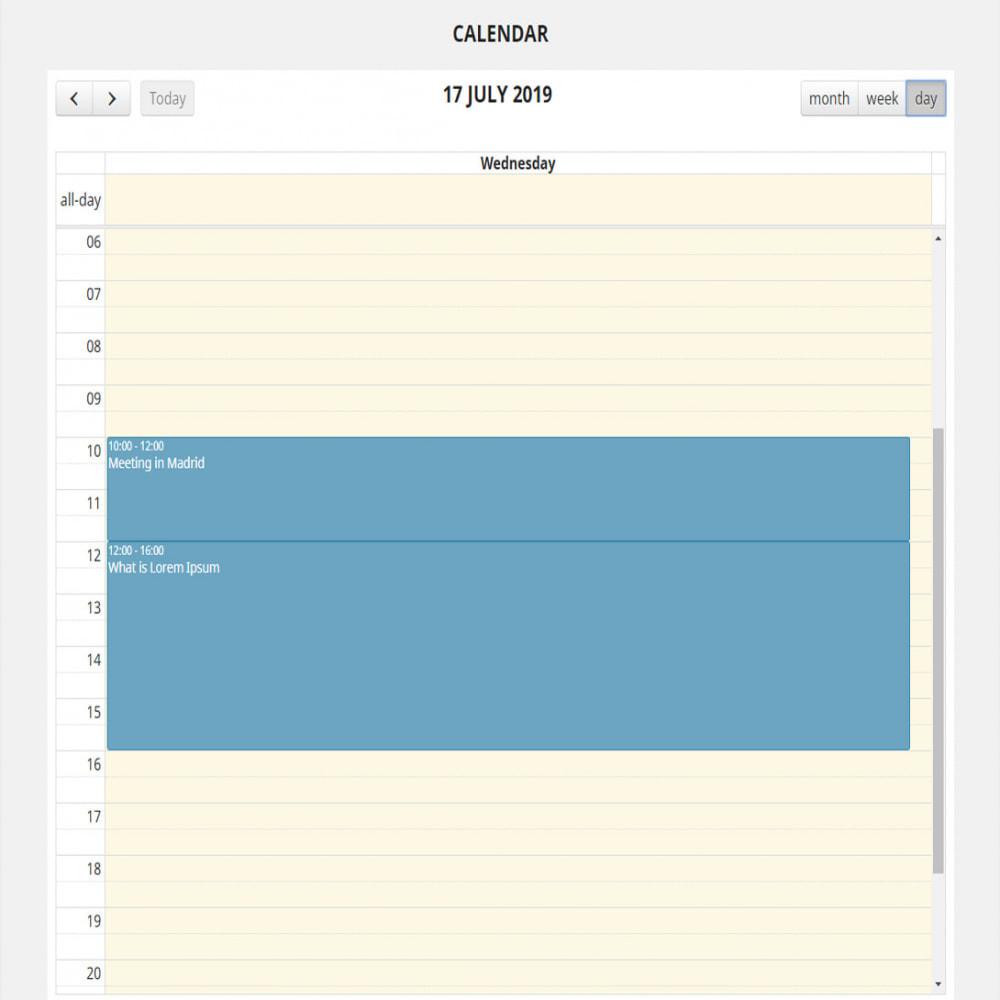 module - Blog, Foro y Noticias - Calendario completo de eventos - 5