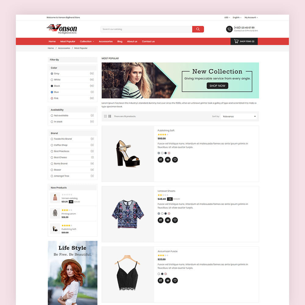 theme - Мода и обувь - Vonson Fashion Store - 6