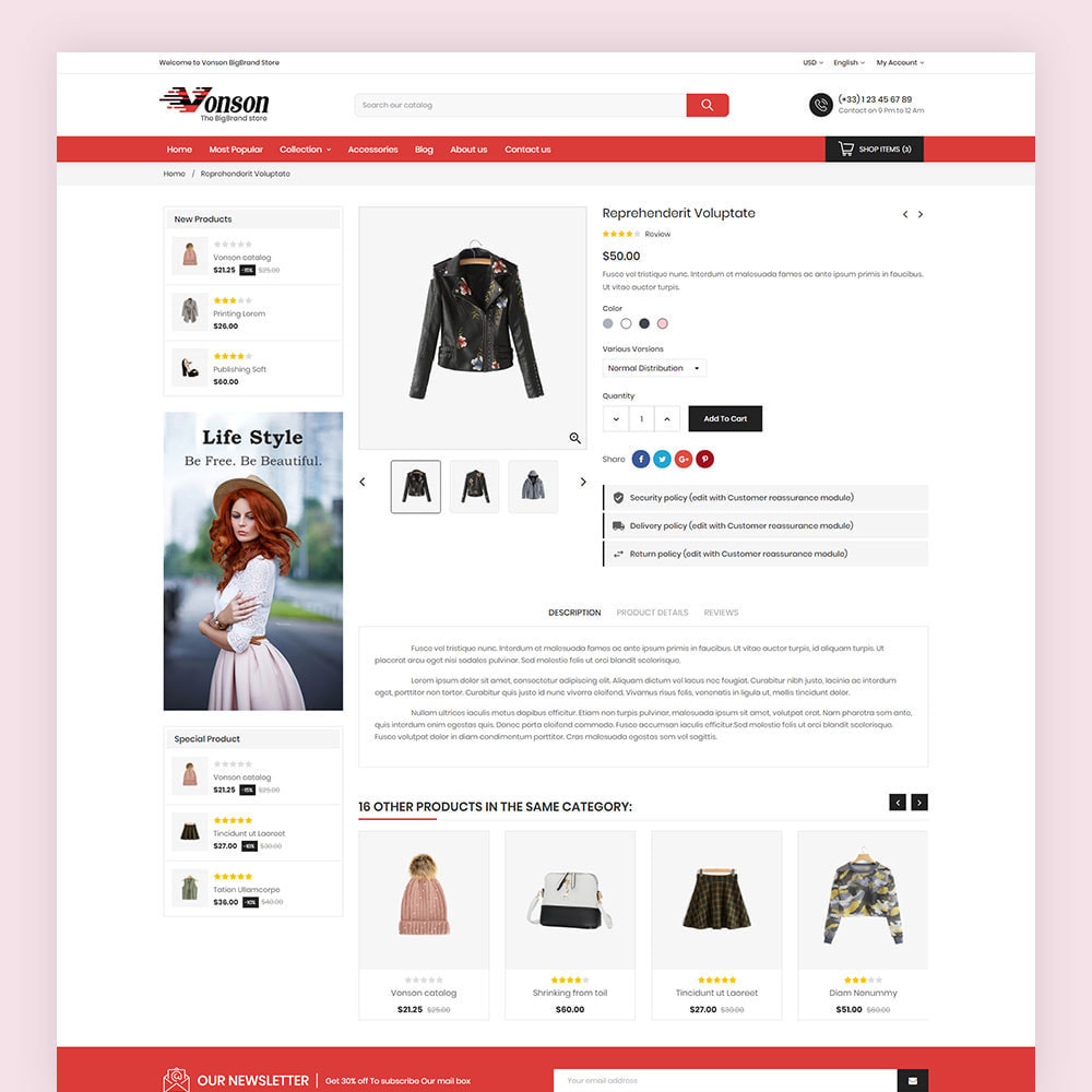 theme - Мода и обувь - Vonson Fashion Store - 7