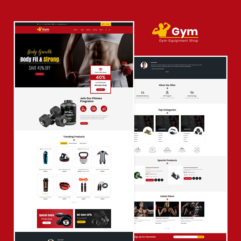 theme - Sports, Activities & Travel - Gym - Equipment Shop - 2
