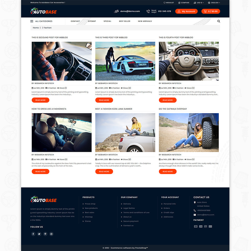 theme - Carros & Motos - Autobase - The Best Supermarket Auto Store - 9