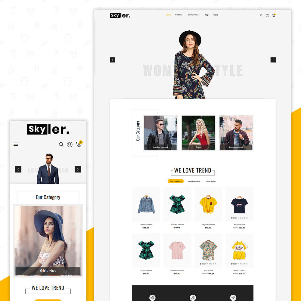 theme - Fashion & Shoes - Skyler Fashion Responsive Premium Store - 1