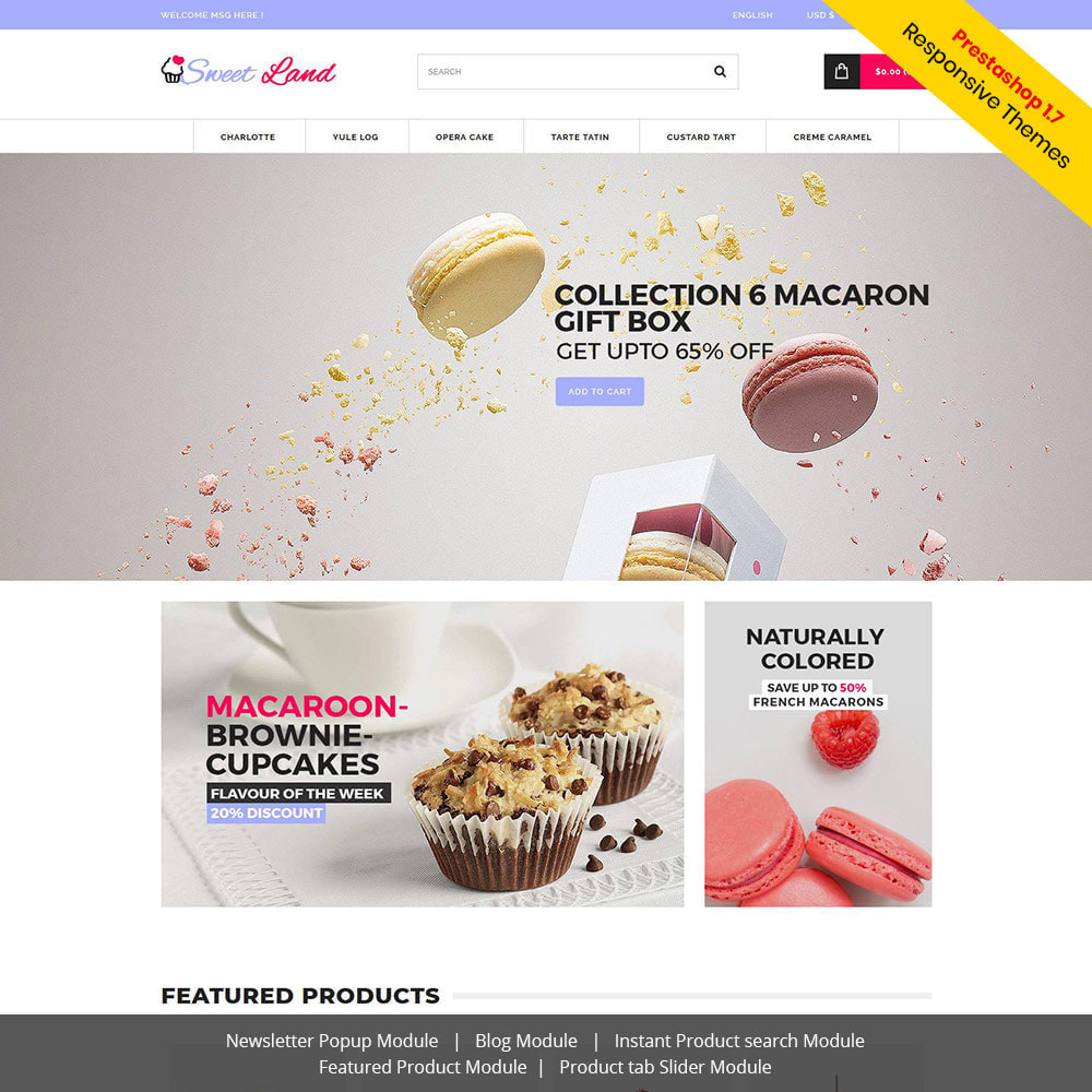 theme - Food & Restaurant - Sweet Cake - Biscuit Desserts Store - 1
