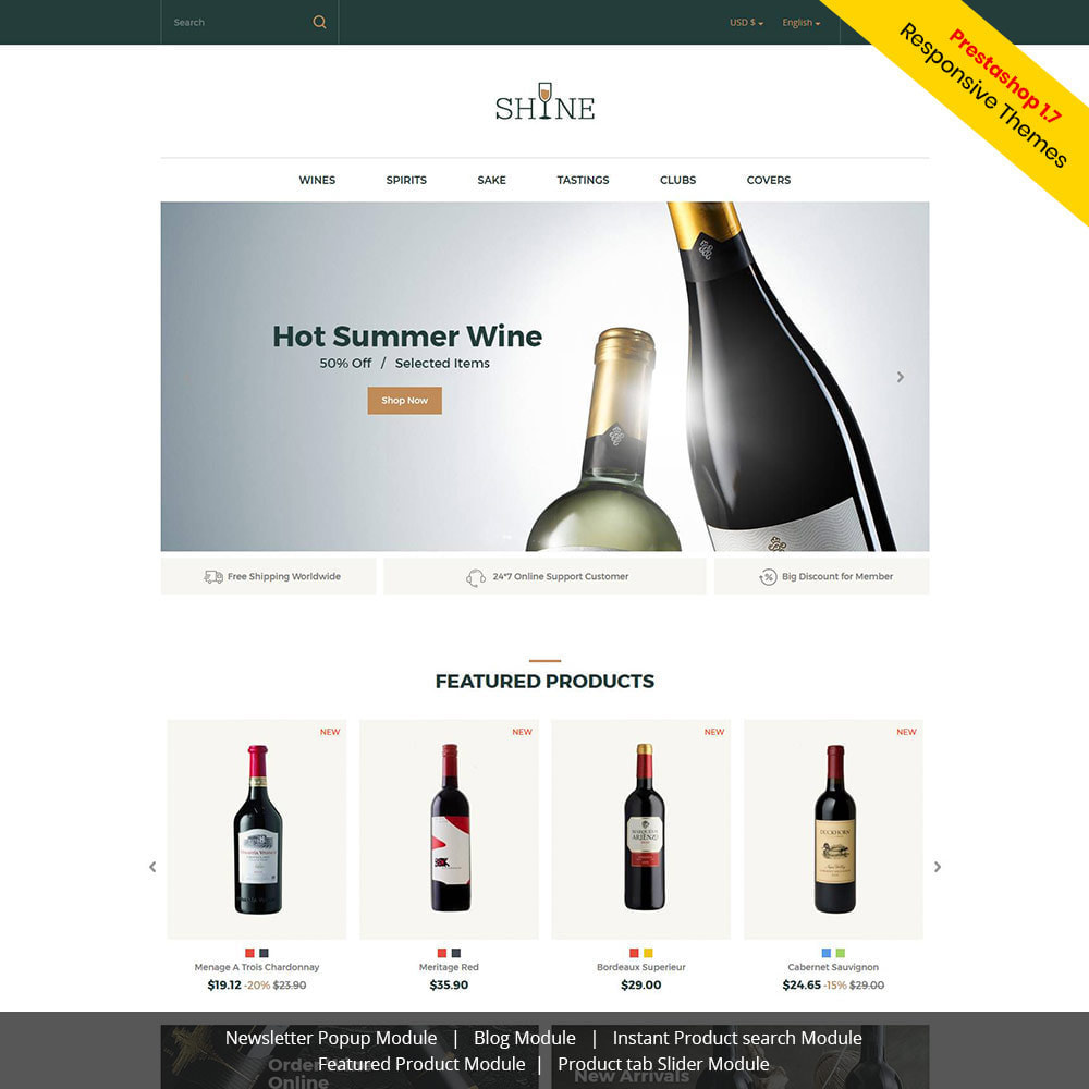 theme - Boissons & Tabac - Shine Wine - Magasin d'alcool - 1