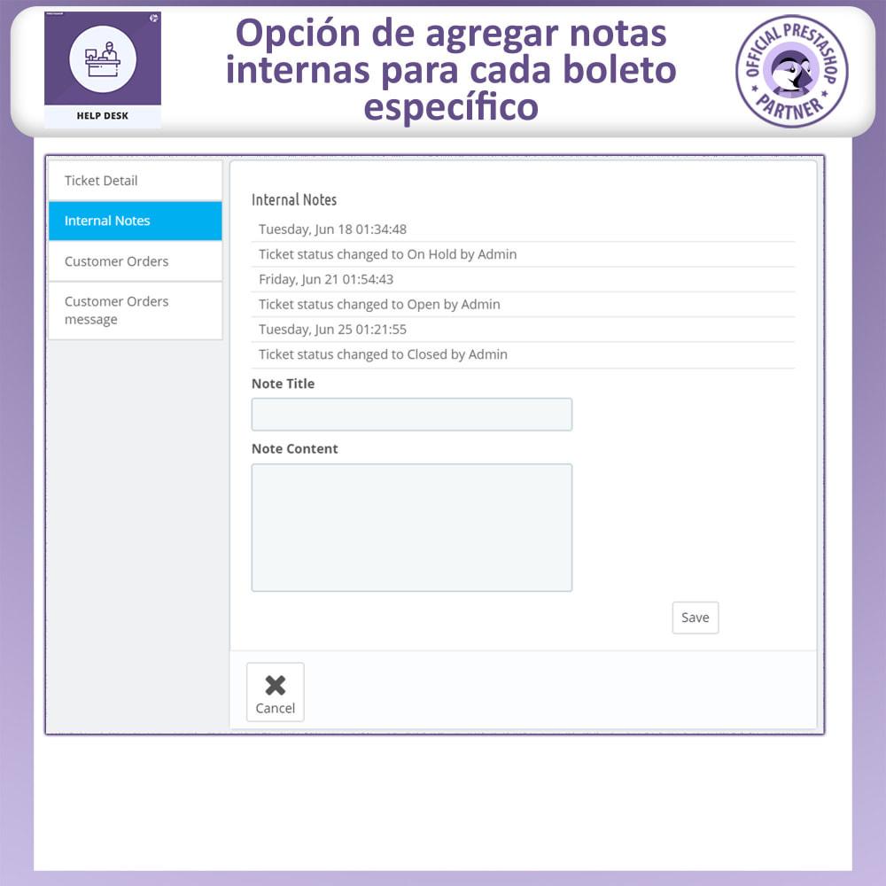 module - Servicio posventa - Mesa de ayuda - Sistema de gestión de soporte al client - 11