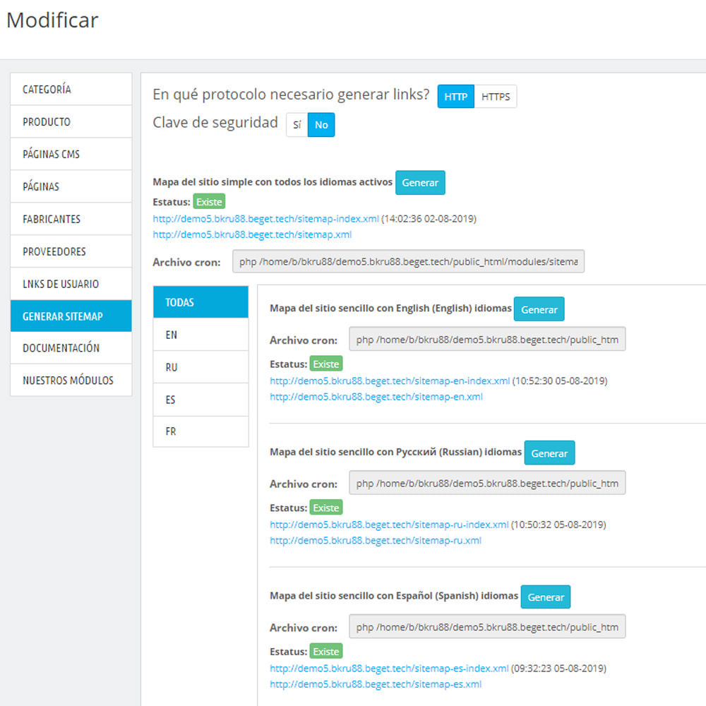 module - SEO (Posicionamiento en buscadores) - Mapa del sitio Pro xml - 10