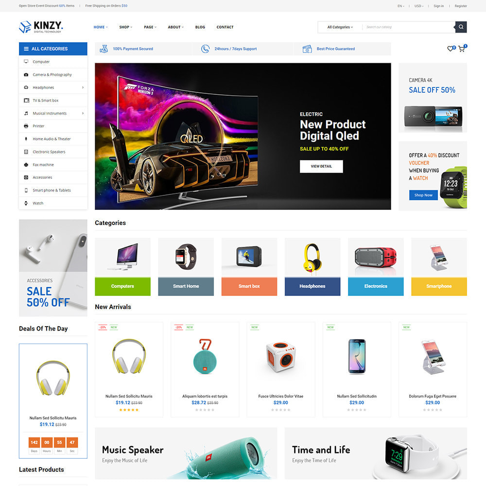 theme - Electrónica e High Tech - Kinzy - Electronics Store - 1