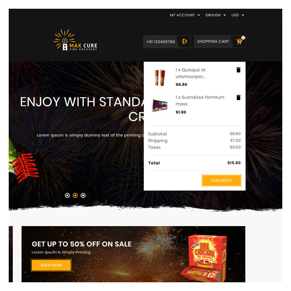 theme - Gifts, Flowers & Celebrations - Maxcure Fireworks Store - 7