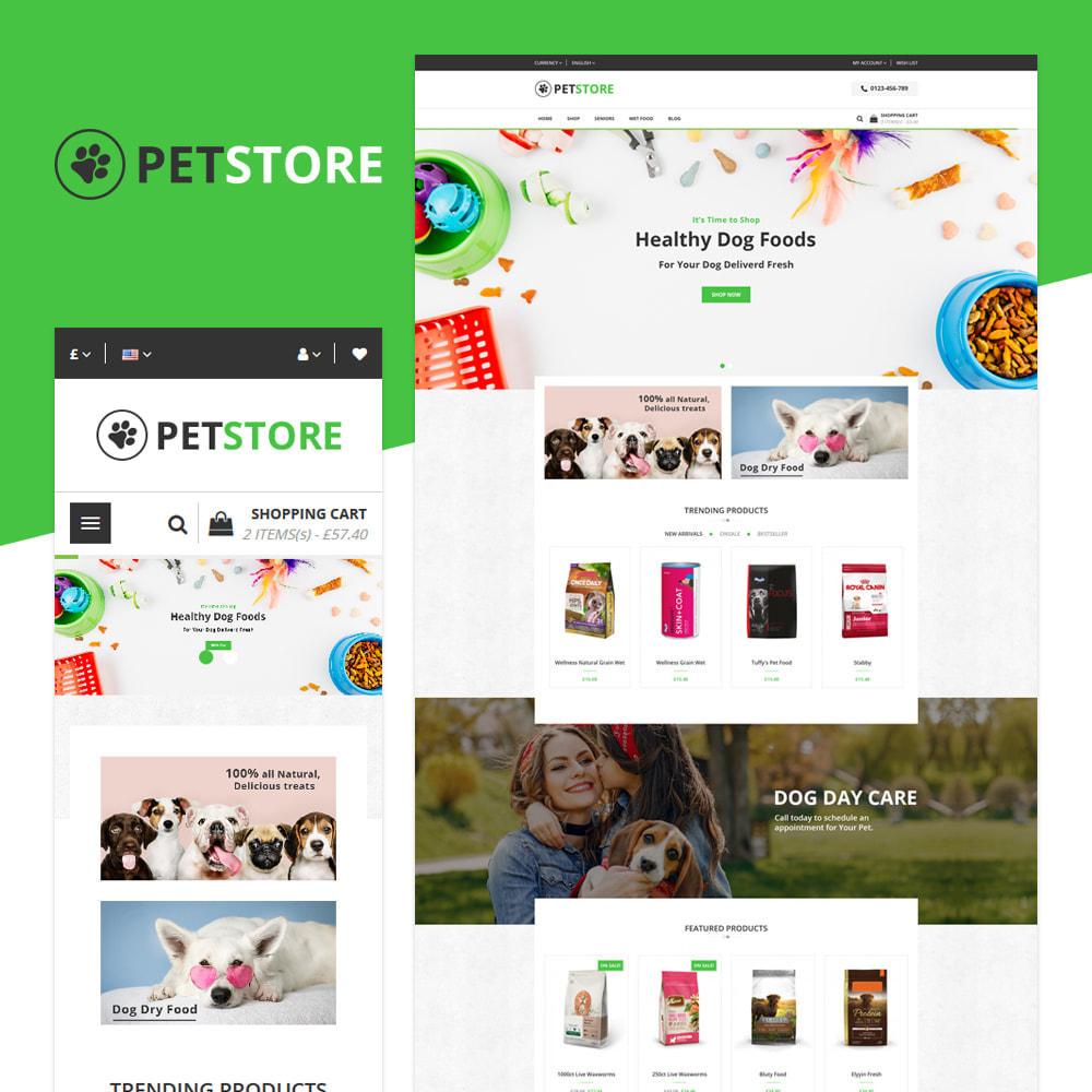 theme - Животные и домашние питомцы - PetStore - Адаптивный Магазин - 1