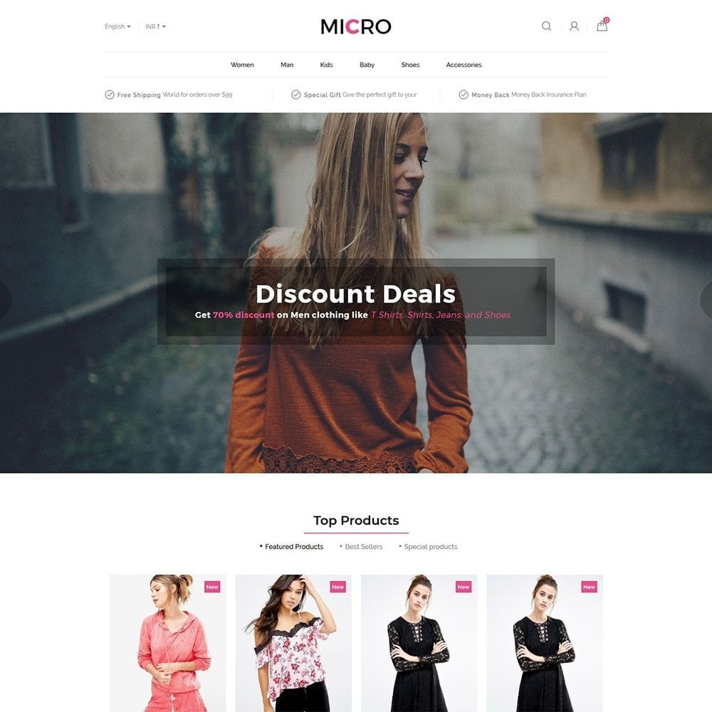 theme - Fashion & Shoes - Fashion Clothes - Designer Accessories  Store - 2