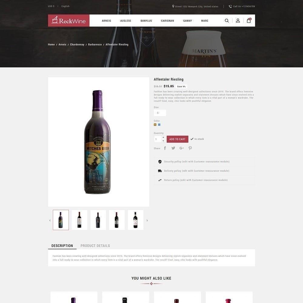 theme - Drink & Wine - Vino - Negozio di bevande alcoliche - 6