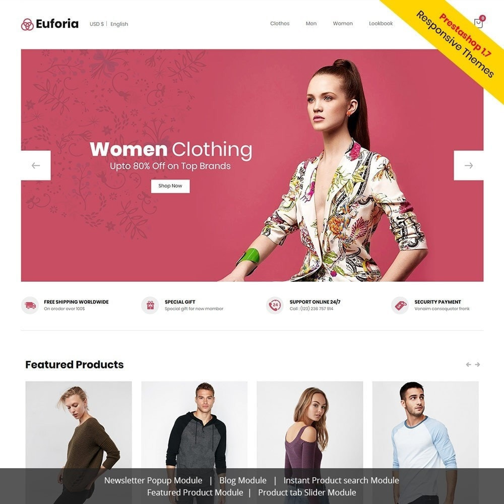 theme - Mode & Schoenen - Euforia Designer - Fashion Cloth Store - 2