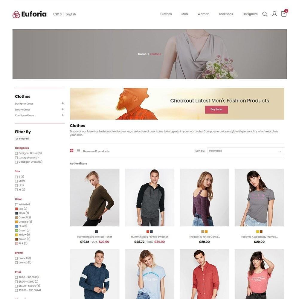 theme - Mode & Schoenen - Euforia Designer - Fashion Cloth Store - 3