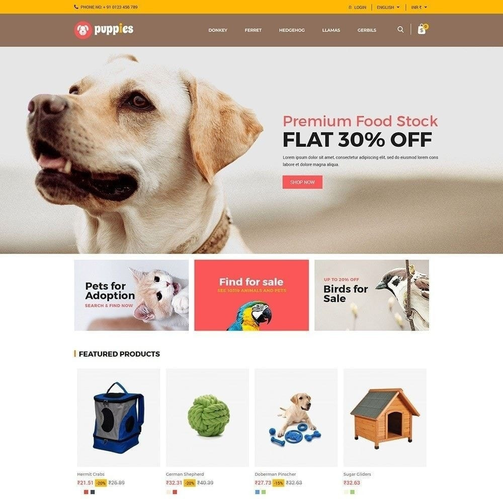 theme - Animaux - Puppy Pet - Magasin pour animaux chats - 5