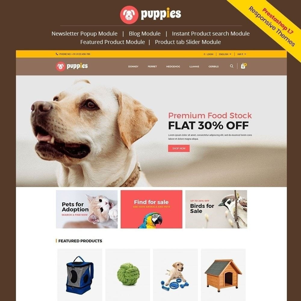 theme - Animales y Mascotas - Puppy Pet - Cat Animal Store - 2