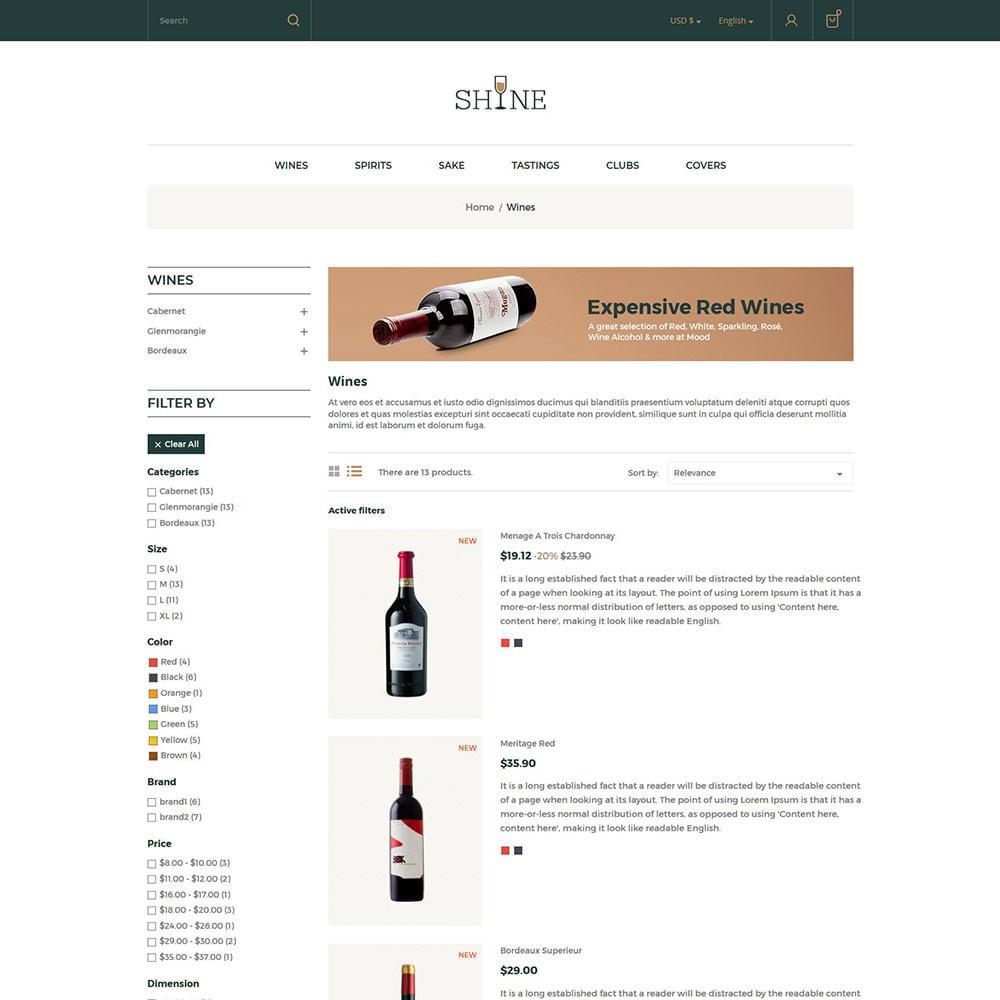 theme - Bebidas y Tabaco - Shine Wine - Tienda de alcohol - 5
